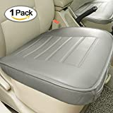 universal car mats tan - Car Seat Cushion, Edge Wrapping Car Front Seat Cushion Cover Pad Mat for Auto Supplies Office Chair with PU Leather (Gray)