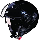 Studds Downtown SUS_DONOFH_BLKXL Open Face Helmet (Black, XL)