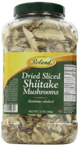 Roland Dried Mushrooms, Shiitake Sliced, 12 Ounce