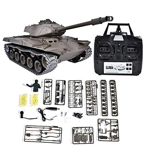 Dilwe RC Tank 2.4GHz, 1:16 Heavy Remote Control Battle Walker Tank Model RC Toy for Kids ()