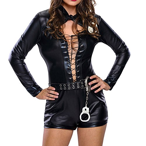 Elakaka Stylish 6pcs Female Cop Costume(Size,M)