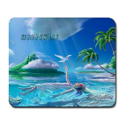 """Price comparison product image Large Mousepad Happiness This 9.25"""" x 7.75"""" rectangular mousepad"""