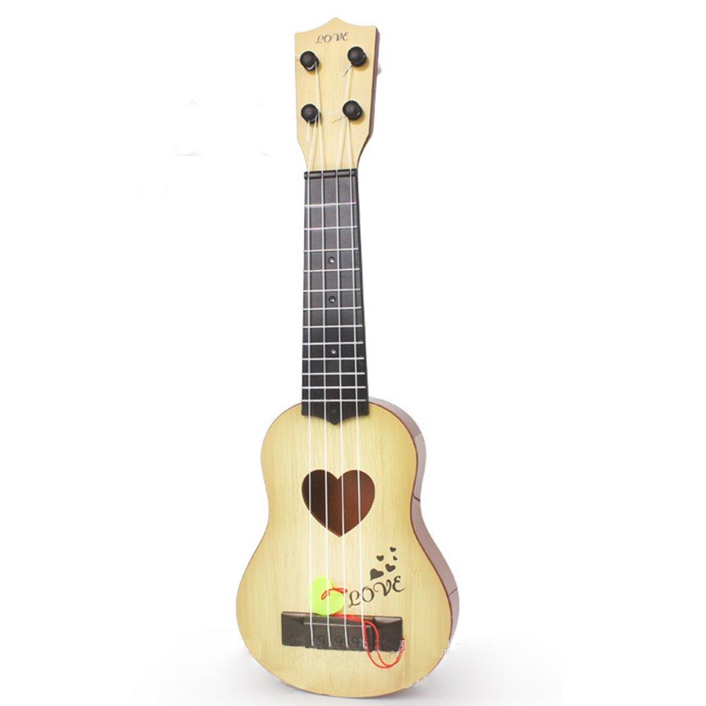 Zantec Bambini Giocattoli musicali educativi giocattolo regali per principianti Chitarre e strumenti a corda 4 corde per bambini simulazione