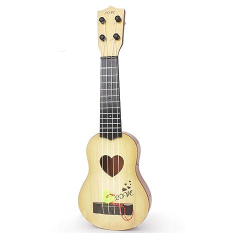 Zantec Juguetes Creativos, 4 Cuerdas Niños Simulación Jugable Ukelele Guitarra Instrumentos de Música Educativos Juguetes