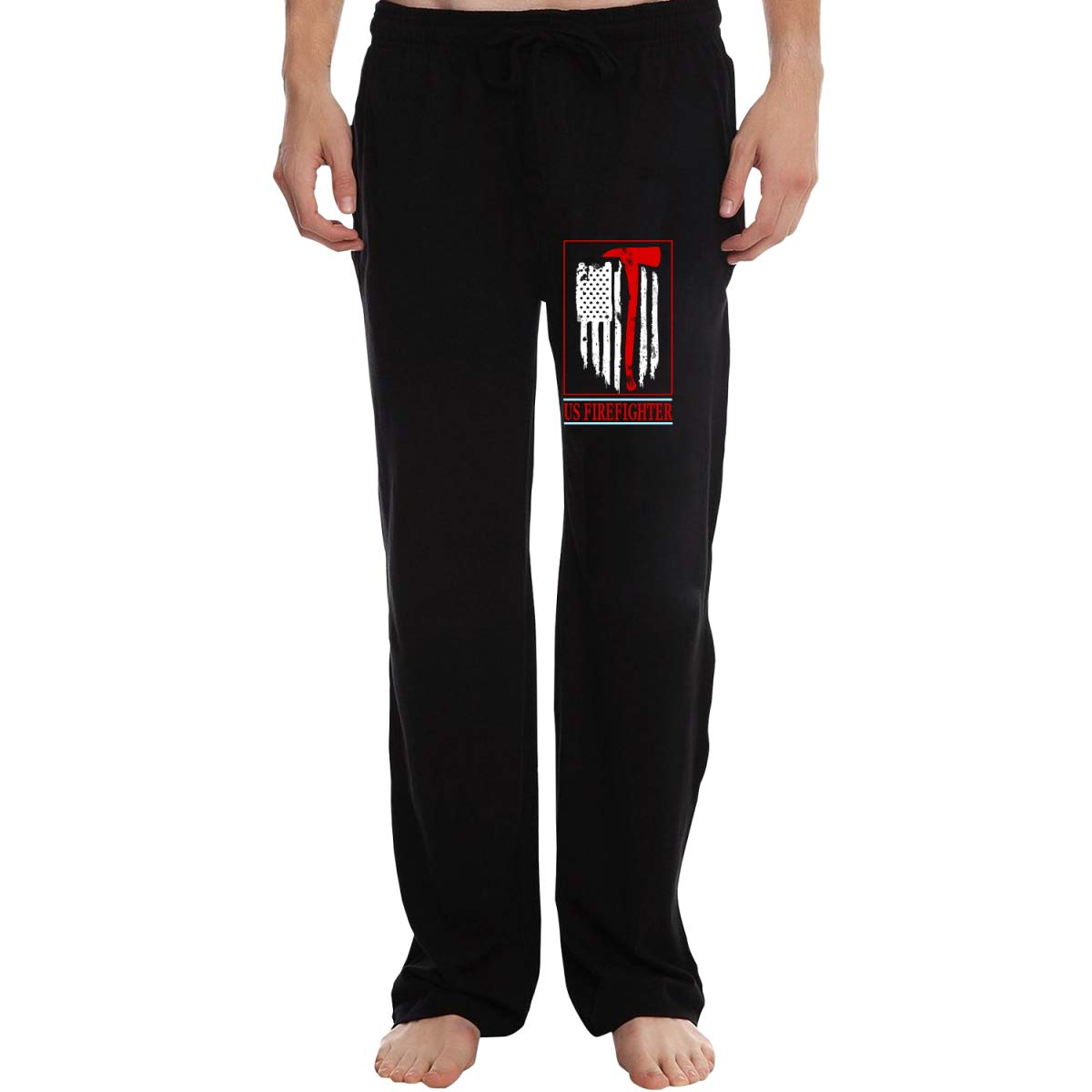HSNiiY US - Pantalones de chándal de algodón para Bomberos, Hombre ...