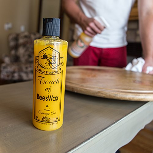 Touch of Beeswax Wood Furniture Polish and Conditioner with Orange