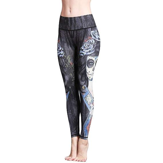 Luckycat Leggings de Deporte Mujer Cintura Alta Pantalón ...