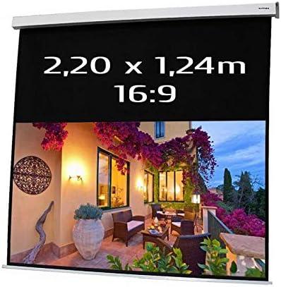 Pantalla ELECTRICA DE PROYECCION 2,20x1,24m Formato 16:9: Amazon ...