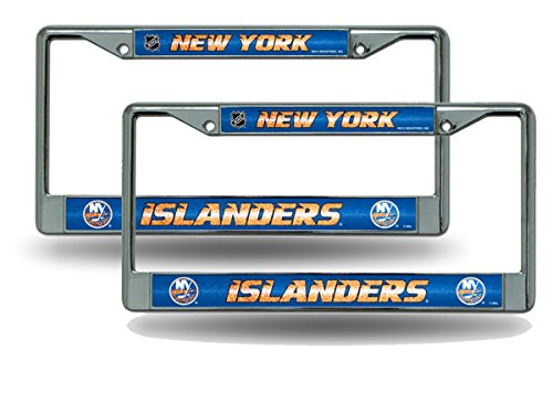 (Rico New York Islanders Chrome Metal (2) Bling License Plate Frame)