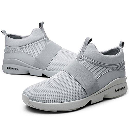 Grau Leichte Sportschuhe Mesh Herren Freizeit on Sneakers Solshine Straßenlaufschuhe Slip Fitnessschuhe xIUv1wxqX