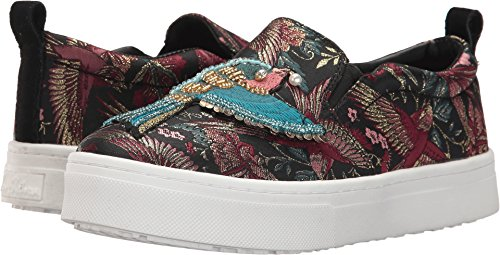 Sam Edelman Women's Leila Sneaker, Black/Multi Jacquard, 11 Medium US