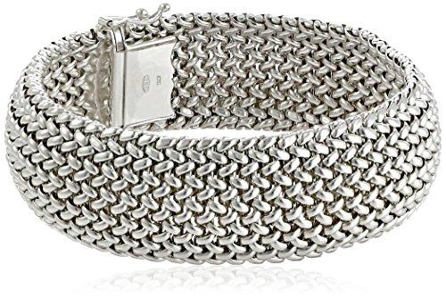 Sterling Silver Italian Rhodium Bracelet