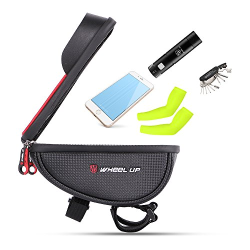 Bike Bag , Waterproof Touch Screen Bicycle Handbar Front Phone Frame Bag Holder For iPhone 7 Plus 6s 6 plus 8 Samsung Galaxy s7 s6 note 7 Cellphone Below 6.0 Inch US SPE 024