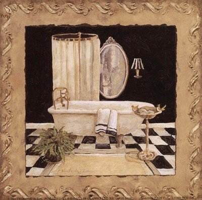 Maison Bath I by Charlene Winter Olson - 6x6 Inches - Art Print Poster