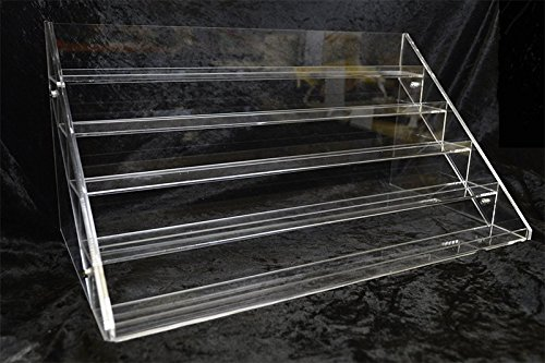 Premium Clear Acrylic Scent Oils Nail Polish Large Display Stand Rack Organizer Extra Long 16 inchs by Amplic