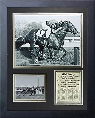 "Whirlaway - 1941 Triple Crown Winner 11"" x 14"" Framed Photo Collage by Legends Never Die, Inc."