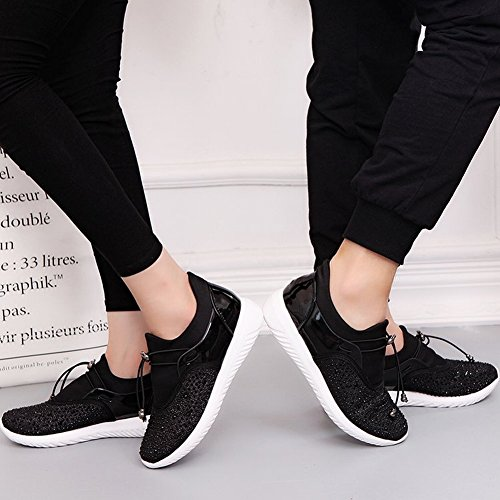 Match Casual Flat Sports Shoes Shoes Ladies EUR36 Lace Shoes Pearl 5 Couples gold All x1tSqw68H