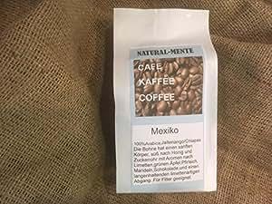 natural mente–Granos de café de jalte nango/Chiapas/México, fresco geröstet, Granos de café origen: México, 100% Arabica, 500g