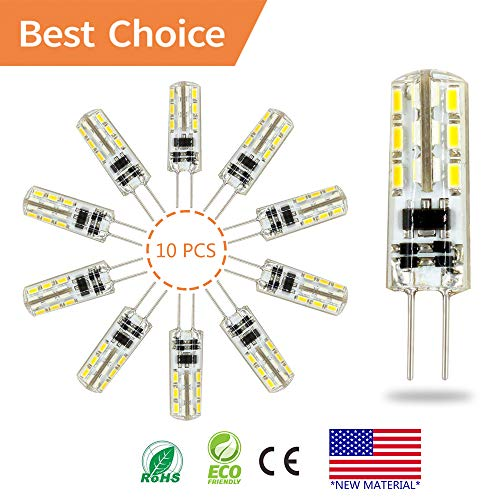 G4 LED Bulb lamp 10PCS, Akindoo 1.5 Watt AC DC 12V Equivalent to 10W T3 Halogen Track Bulb Replacement 360° Beam Angle Non-dimmable (Daylight White 6000K-7500k) ()