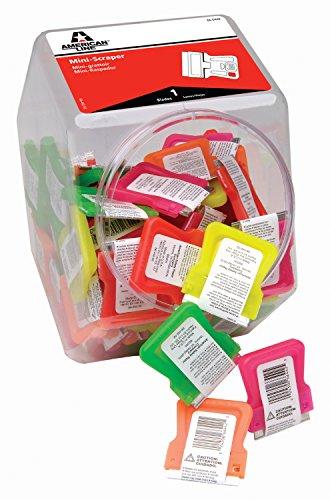 ASR 66-0442 Neon Mini Scrapers with Blade Bucket (Pack of 100)