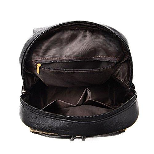 bolsos hombro Piszkosfehér Cuero Bolsos mochila bandolera Bolsos escolares de DEERWORD PU Bolsas Shoppers de Mujer y qFPAZwz