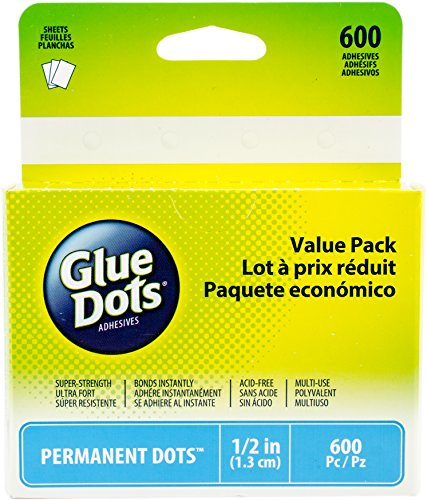 "Glue Dots 11350 5"" Permanent Dot Sheets Value Pack"