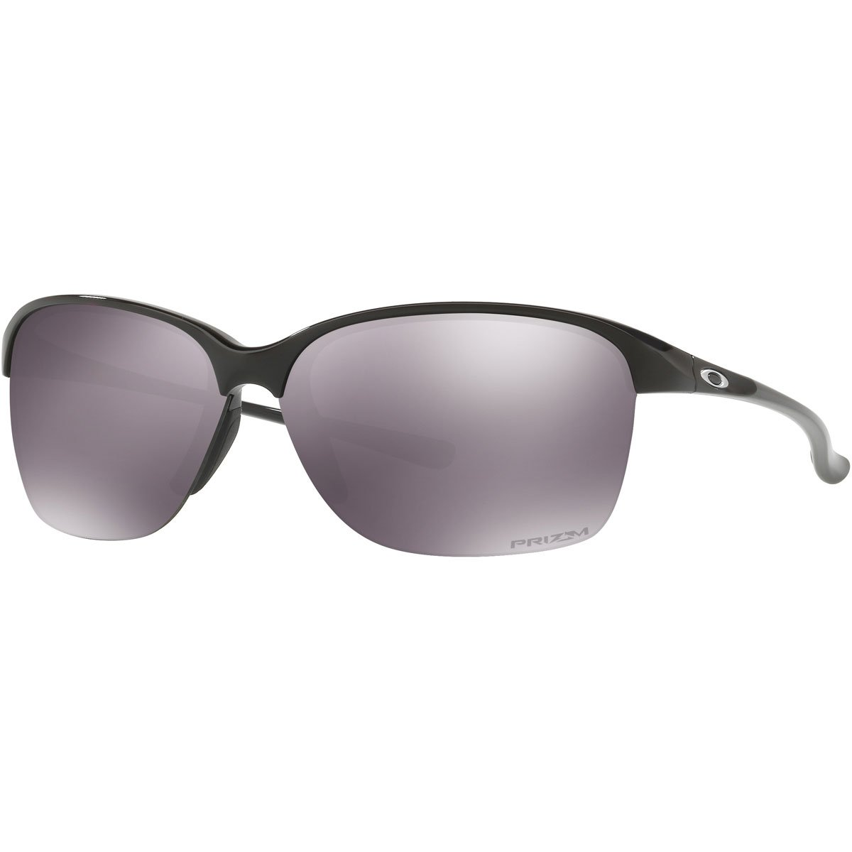 Oakley Women's Unstoppable Rectangular Sunglasses, Polished Black, 65 mm