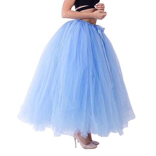 Kuvuiuee - Falda de tul, para adultos, para dama de honor, danza ...