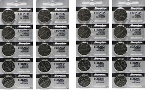 Energizer CR2032 3 Volt Lithium Coin Battery In Original Packaging, 2 Packs (10 Batteries)