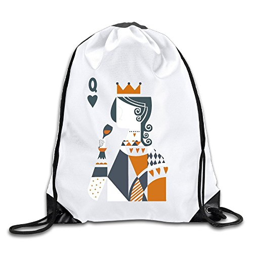 Rolling Backpack Friends (Playing Card Poker Queen Sports Drawstring Backpack For Men & Women)