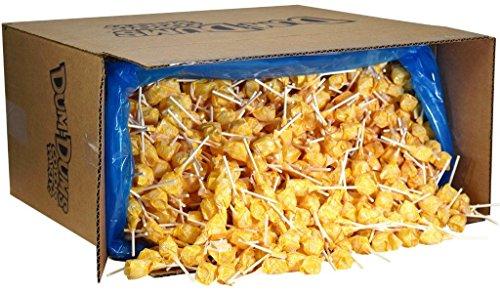 (Dum Dums Color Party Lollipops, Yellow, Cream Soda Flavor, Bulk 30lb Box, 2,340)
