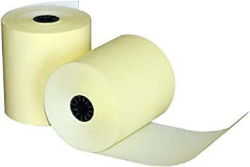 """10//Pack White Quill 1 3//4/"""" x 150 ft. Single Ply Cash Register//POS Roll"""