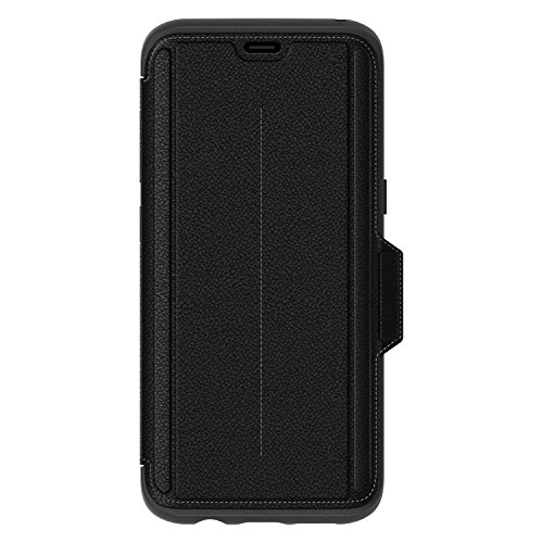 OtterBox 77-54571 STRADA SERIES for Samsung Galaxy S8 – Retail Packaging – ONYX (BLACK/BLACK LEATHER)