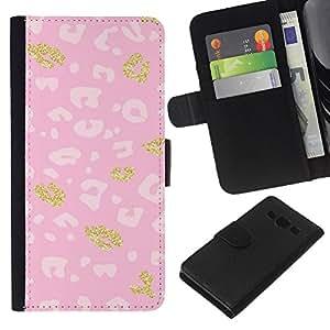 Modelo rosado de oro blanco de piel- la tarjeta de Crédito Slots PU Funda de cuero Monedero caso cubierta de piel Para Samsung Galaxy A3
