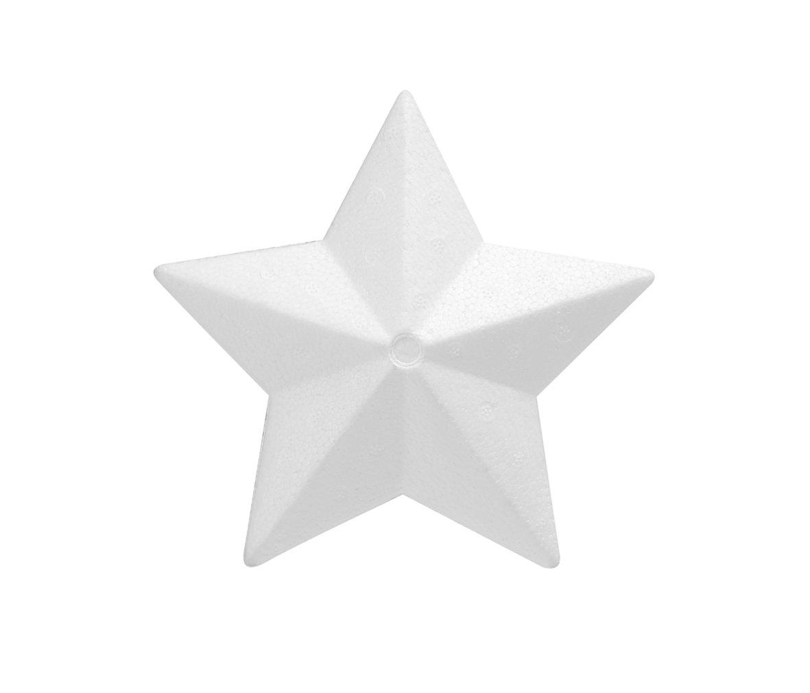 Glorex 63803822di polistirolo a forma di stella, di polistirolo, Bianco, 30x 30x 7cm GLOREX GmbH 6 3803 822