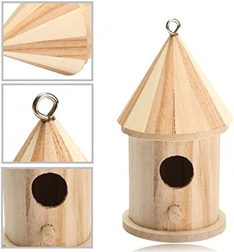 Kicode Wooden Outdoor Garden Birds Wood Nesting Box House Nest Home Supply Accessories