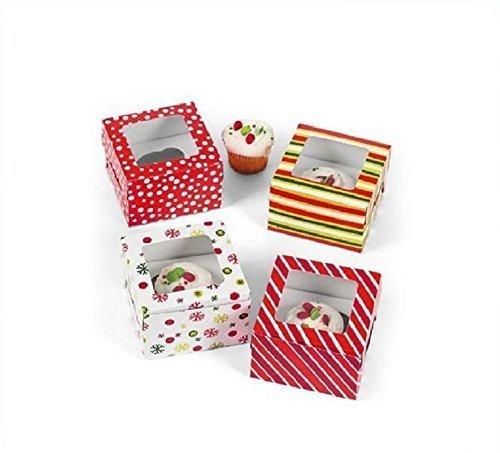 Bright Christmas Cupcake Boxes (1 dz)