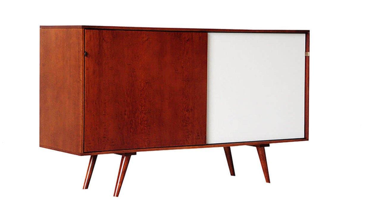 Credenza Con Porte Scorrevoli : Credenza madia cassettiera in legno con 2 porte scorrevoli dal