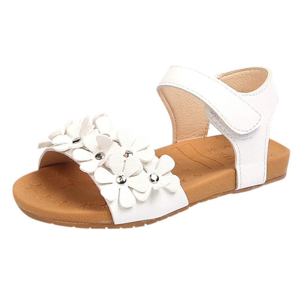 Darringls Chaussures de B/éb/é Fille Mignon Fleur Chaussures en Cuir Chaussures de Princesse Chaussures de Plage Sandales Chaussures de Performance Nouveau 2019