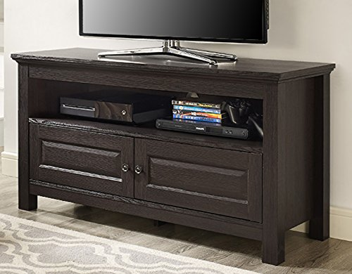 Walker Edison 44 inches Cortez TV Stand Console, Espresso ()