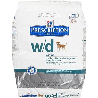 Hill's Prescription Diet w/d Low Fat - Diabetic - Gastrointestinal Dry Dog Food w/ Chicken 8.5 Puounds