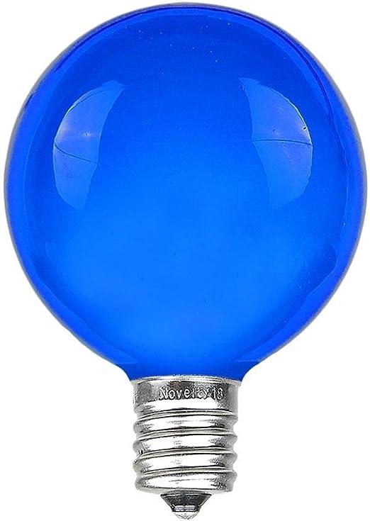 0.6 Watt 25 Pack G40 DEL Ampoules De Rechange blanc chaud candélabres à Vis Base,