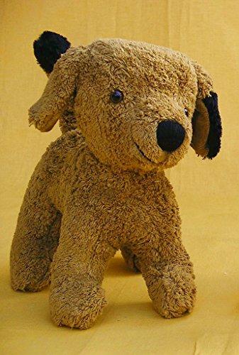 Kallisto Hund braun, ca.25 cm, Organic Cotton, Füllung Schafwolle
