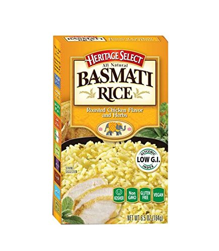 (Heritage Select Basmati Rice, Roasted Chicken Flavored & Herbs with Orzo Pasta, 6.5 Ounce (Pack of 6))