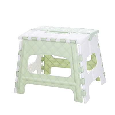 POOYA Folding Stool, Plastic Purpose Folding Step Stool Home Train Outdoor Storage Foldable (Green): Kitchen & Dining [5Bkhe0705053]