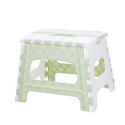 POOYA Folding Stool, Plastic Purpose Folding Step Stool Home Train Outdoor Storage Foldable (Green): Kitchen & Dining