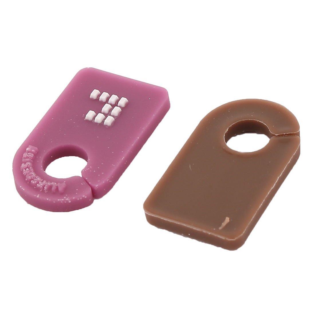 Gestor de alambre eDealMax Home Office cable Identificador clips de cordón etiqueta de la etiqueta 6pcs multicolor - - Amazon.com