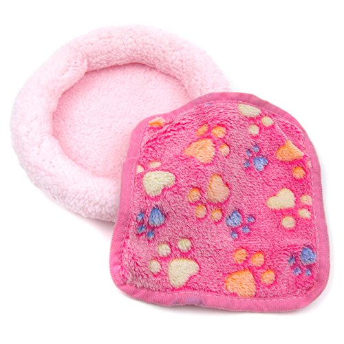 - Alfie Pet - Fallon Sleeping Mat and Blacket Set for Small Animals Like Dwarf Hamster and Mouse - Color: Pink