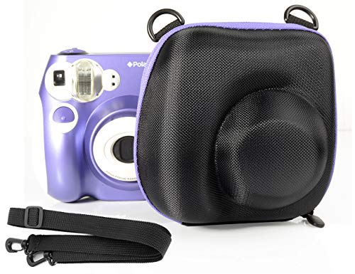 Ingo Protective Case for Polaroid PIC-300 Instant Film Camera, Featured Purple Zip Contrast Color, Free Shoulder Strap, Convenient to take Out and Put Back The Camera from The Protective case