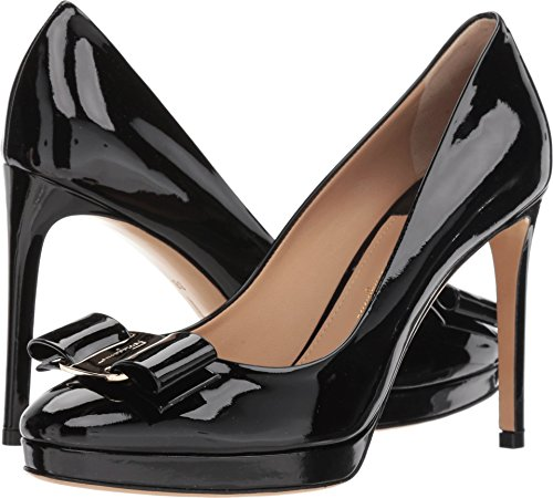 Embossed Platform Pump - Salvatore Ferragamo Women's Osimo Nero 8 B US